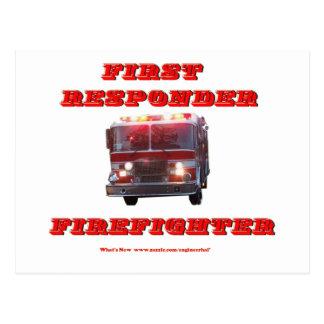 Erstversorger-Feuerwehrmann Postkarte