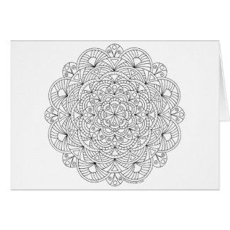 Erwachsen-Farbton-Muster der Mandala-010617 danken Karte