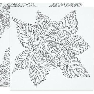 Erwachsen-Farbton-Rosen-Ermutigung der Quadratische 13,3 Cm Einladungskarte