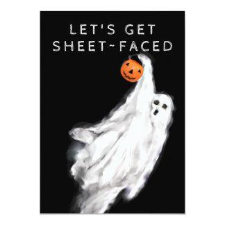 Erwachsene Halloween-Party-Einladungen Karte