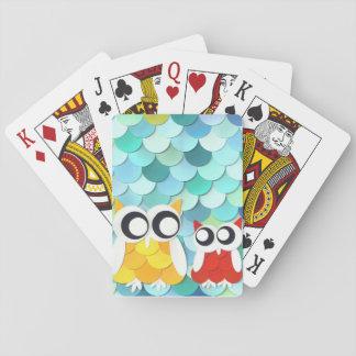 Erwachsene und kleine Eule Spielkarten