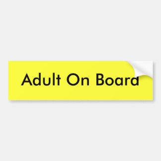 Erwachsener an Bord Autoaufkleber