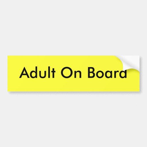 Erwachsener an Bord Auto Aufkleber