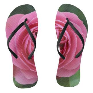 Erwachsener, dünne Bügel-Rosen Makro Flip Flops