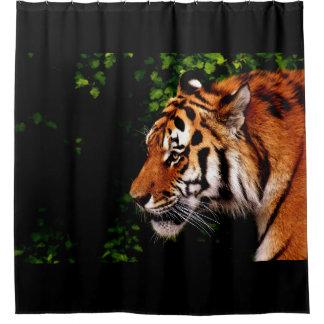 Erwachsener wilder Tiger-links Einfassung Duschvorhang