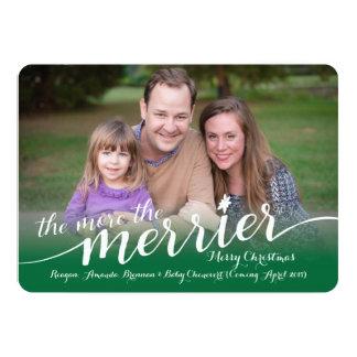 Erwartung der Weihnachtskarte mit Fotos 12,7 X 17,8 Cm Einladungskarte