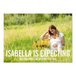 Erwartung von | Schwangerschafts-Mitteilung 12,7 X 17,8 Cm Einladungskarte