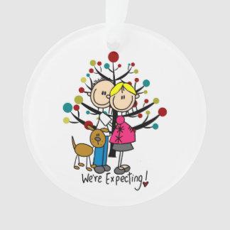Erwartungsvolle Hundefeiertags-Acryl-Verzierung Ornament
