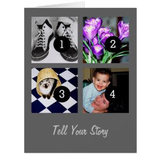 Erzählen Sie Ihre Geschichte schaffen Ihr eigenes Karte