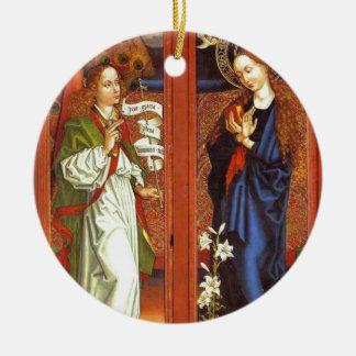 Erzengel Gabriel - Ankündigung - Schongauer Rundes Keramik Ornament