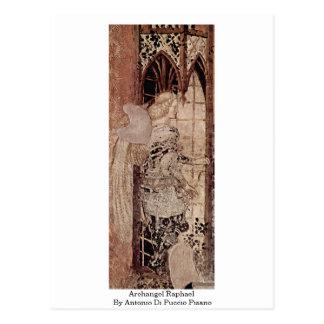Erzengel-RAPHAEL durch Antonio Di Puccio Pisano Postkarte