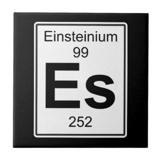 Es - Einsteinium Keramikfliese