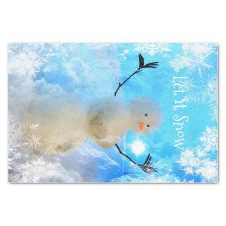 Es gelassen Schnee-Man Seidenpapier