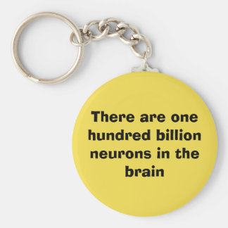 Es gibt hundert Milliarde Neuronen im Gehirn Schlüsselanhänger
