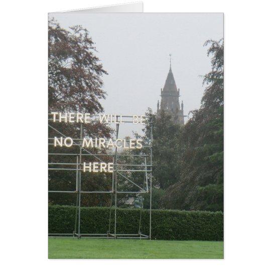 Es gibt keine Wunder-hier - Edinburgh-Kunst Grußkarte