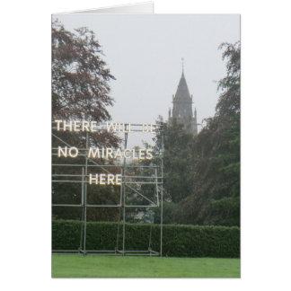 Es gibt keine Wunder-hier - Edinburgh-Kunst Karte