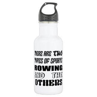 Es gibt zwei Arten Sportrudern und -andere Edelstahlflasche