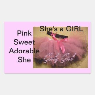 Es ist Aufkleber eines Mädchens