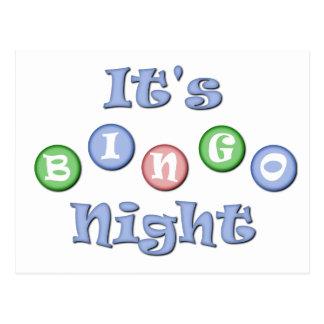 Es ist Bingo-Nacht Postkarten