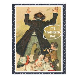 Es ist der Vatertag Postkarte