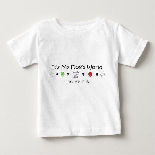 es ist die Welt mein Hundes Baby T-shirt