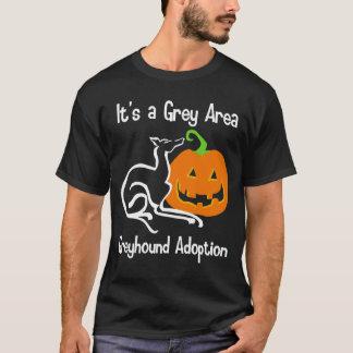 Es ist ein grauer Bereichs-Kürbis-Shirt T-Shirt