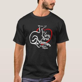 Es ist ein grauer Bereichs-Logo-Shirt - Dunkelheit T-Shirt