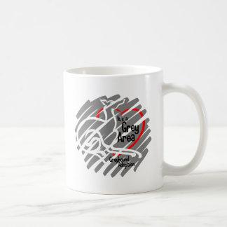 Es ist ein Grauzone Squiggle Kaffeetasse