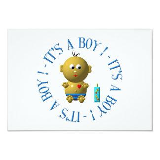 Es ist ein Junge! 8,9 X 12,7 Cm Einladungskarte