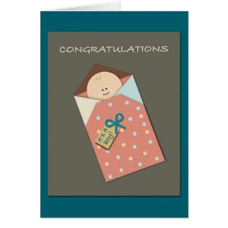 Es ist ein Junge! Papercut Art Grußkarte