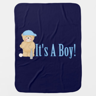Es ist ein Jungen-Teddybär Puckdecke