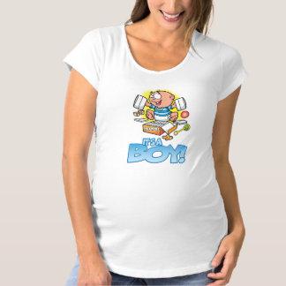 Es ist ein Jungenmutterschaftst-shirt Umstands-T-Shirt