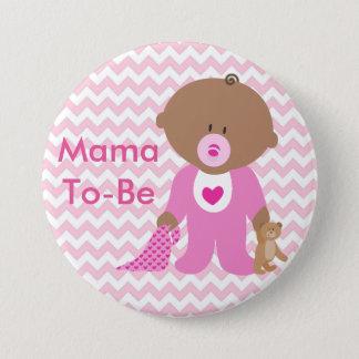 """""""Es ist ein Mädchen-"""" Babyparty-Knopf Runder Button 7,6 Cm"""