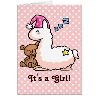 Es ist ein Mädchen-Lama! Karte