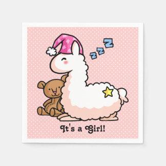 Es ist ein Mädchen-Lama! Servietten