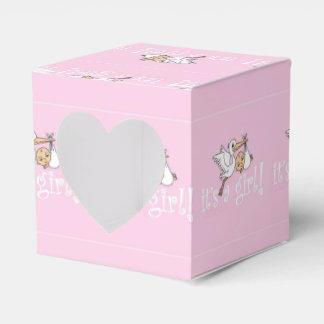 Es ist ein Mädchen-Rosa-Storch Geschenkkarton