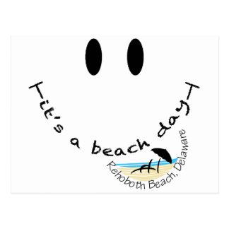 Es ist ein Strand-Tag - Rehoboth Strand, Delaware Postkarte