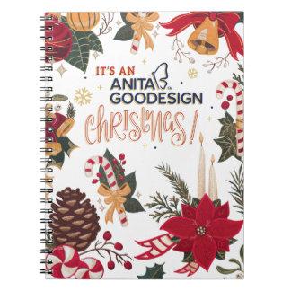 Es ist ein Weihnachtsnotizbuch Anita Goodesign! Spiral Notizblock