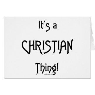 Es ist eine christliche Sache! Grußkarte
