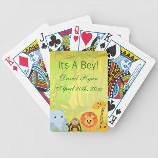 Es ist eine Dschungel-Babyparty CSTM Bicycle Spielkarten