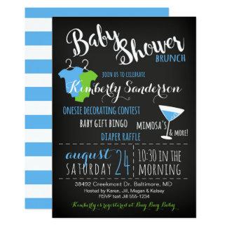 Es ist eine Jungen-Baby-Duschebrunch-Party Karte