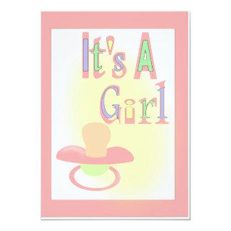 Es ist eine Mädchen-Babyparty 12,7 X 17,8 Cm Einladungskarte