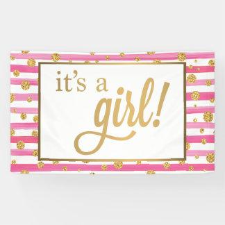 Es ist eine Mädchen-Fahne - neues Baby - Rosa und Banner
