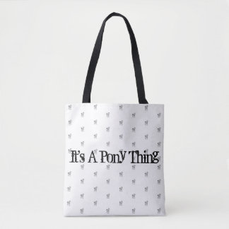 Es ist eine Pony-Sache-Taschen-Tasche Tasche