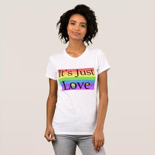 Es ist gerade Liebe, Shirt des Regenbogen-LGBT
