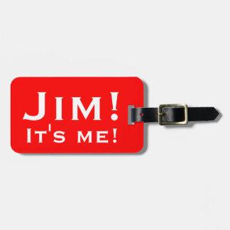 Es ist ich! Personalisierte Gepäckumbauten Adress Schild