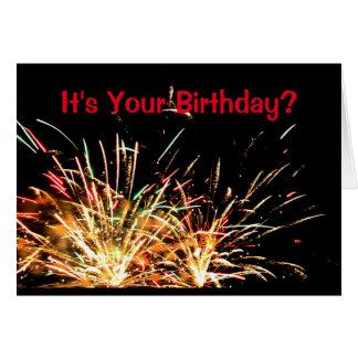 Es ist Ihr Geburtstag? Haben Sie eine Explosion! Karte