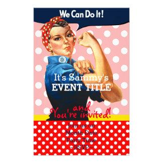 Es ist Ihre personalisierte Rosie Party-Versorgung 14 X 21,6 Cm Flyer