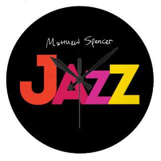 Es ist immer Zeit für Jazz! Große Wanduhr