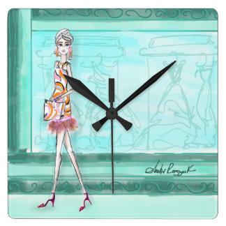 Es ist immer Zeit für Mode Quadratische Wanduhr